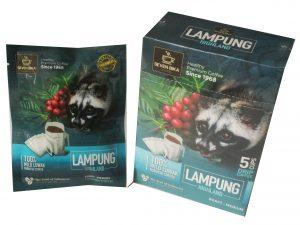 SEVEN BIKA LAMPUNG HIGHLAND PURE ROBUSTA WILD LUWAK DRIP COFFEE 5 SACHETS