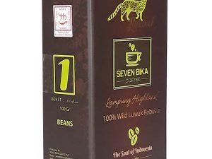 SEVEN BIKA LAMPUNG HIGHLAND PURE ROBUSTA WILD LUWAK COFFEE 100 Gr [Ground]