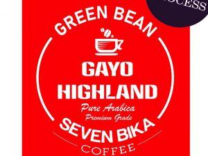 SEVEN BIKA GAYO HIGHLAND PURE ARABICA GREEN BEANS / BIJI MENTAH 1 KG [WINE PROCESS]