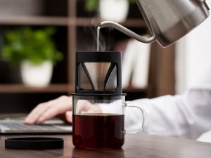 2021 PERSONAL COFFEE CUP with STAINLESS STEEL COFFEE DRIPPER 300 ML