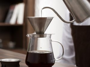 HOT SALE HAND-BLOWN GLASS COFFEE SERVER SET WITH SS DRIPPER FOR HOME BREWING 600 ML