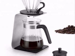 2021 NEWEST HOT SALE COFFEE MAKER WITH ALUMINIUM SINGLE STAND