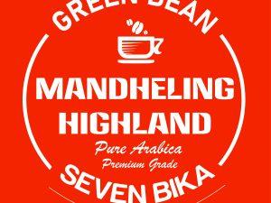 SEVEN BIKA MANDHELING HIGHLAND PURE ARABICA GREEN BEANS / BIJI MENTAH 1 KG [SEMI WASHED]